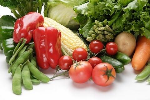 健康的ないろとりどりの野菜
