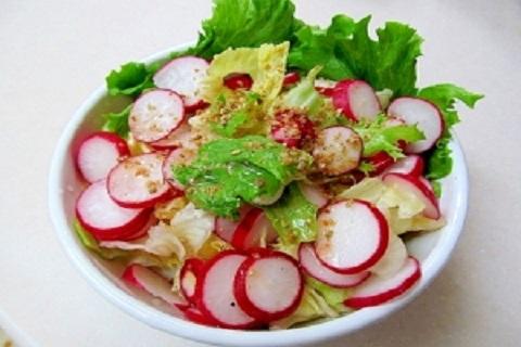 サラダなどに添えられるラディッシュ