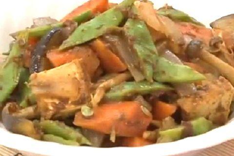 モロッコインゲンを使った野菜炒め